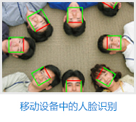 Face recognition used in mobile equipment